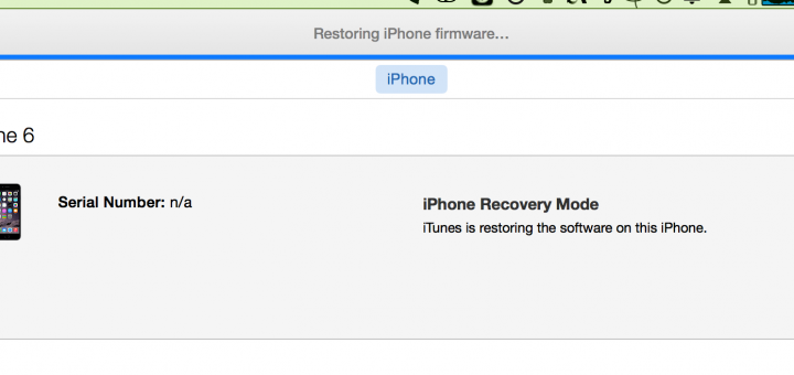 restoring iphone firmware